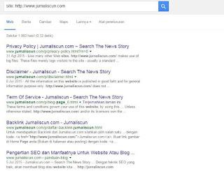Artikel Terindex Google