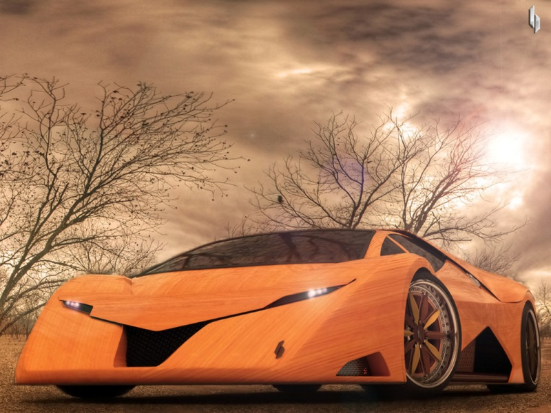 Cars Riccars Design Splinter Wooden Supercar Wallpapers