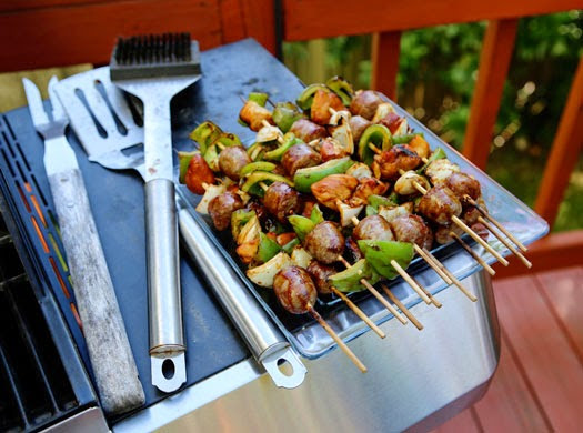 Tasty Tuesday - Chicken & Brat Kabobs