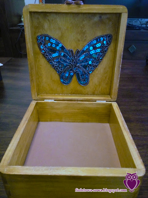 sequin butterfly decoupage