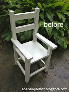 doll chair before