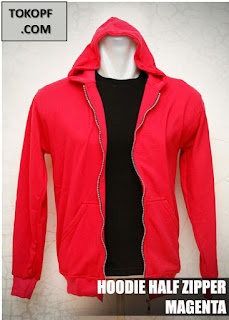 Jaket Polos Warna Magenta atau Merah Muda