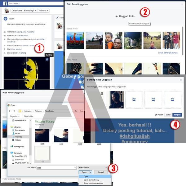 Cara Membuat Fitur Foto Unggulan di Facebook menjadi Keren