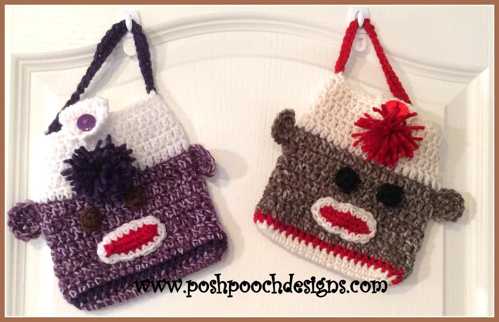 Posh Pooch Designs Dog Clothes: Sock Monkey Purse or Lunch Bag ...