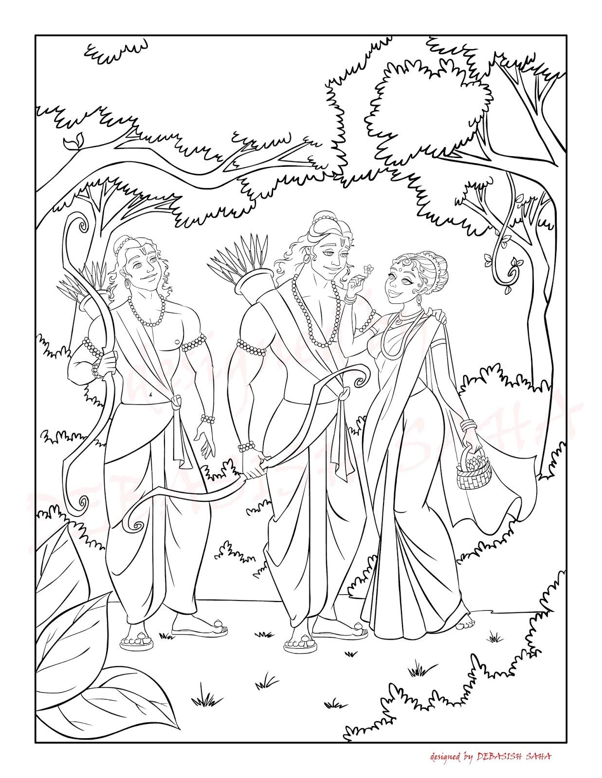 deb anime coloring pages ramayan u0026 cinderella