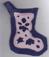 fleece cut out crafts Christmas stocking