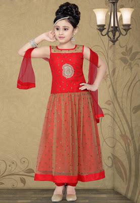 baju india anak perempuan modern untuk lebaran