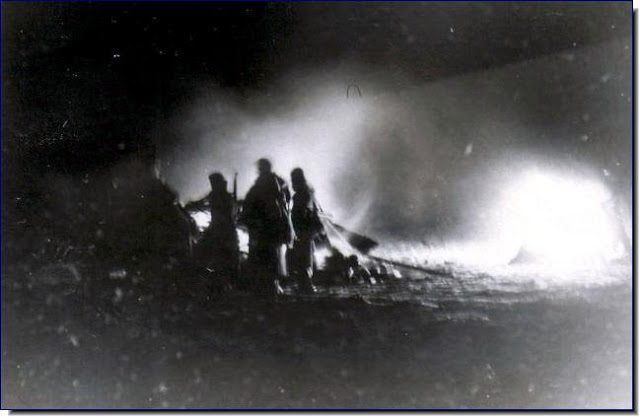 Shenderovka. February 16, 1944.Germans hit by Soviet artillery