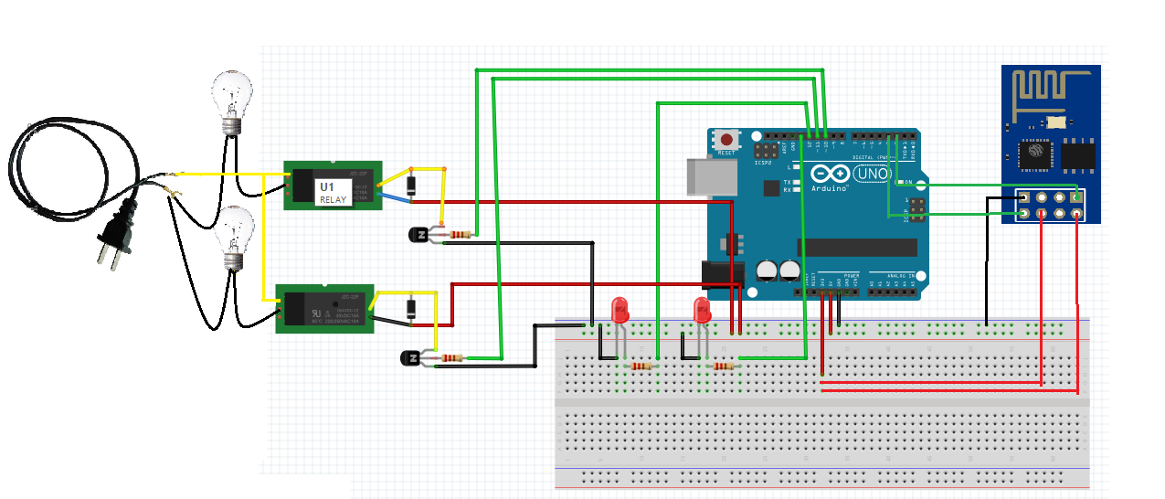 android phone controlled lighting system using wifi technology relay schematic circuit