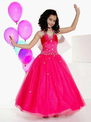 Model Baju pesta Ana Perempuan Warna Pink