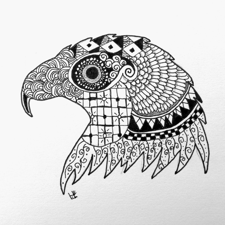 zentangle zoo eagle