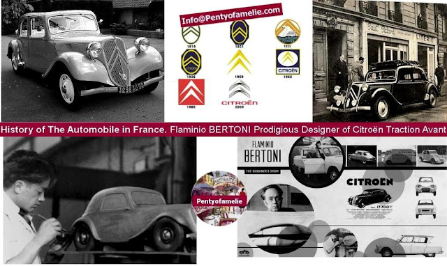 The Front-wheel drive cars; Famous Traction Avant.Since 1934, the elegant, powerful and performing sedan fascinated French people. Designed by talented Flaminio Bertoni; the best auto designer of the period.
