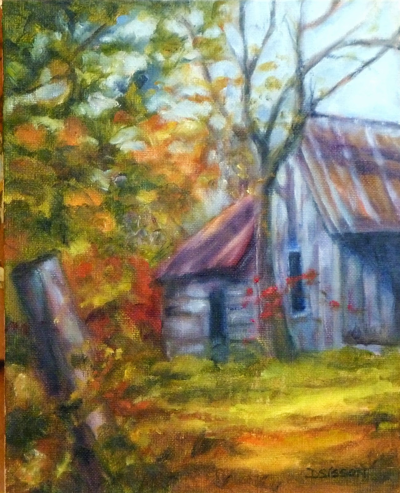 Daily Painting Projects: Old And Abandoned Oil Landscape