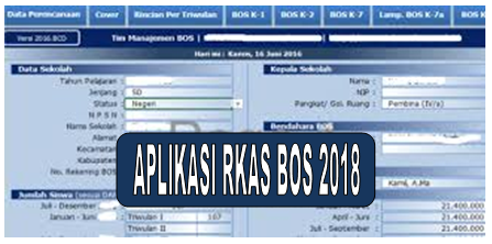 Format Aplikasi RKAS BOS 2018