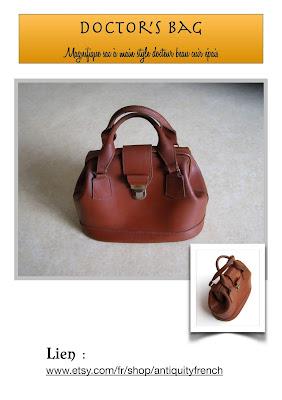 sac docteur, vintage bag, sac cuir femme, cuir marron, cuir épais, beau cuir