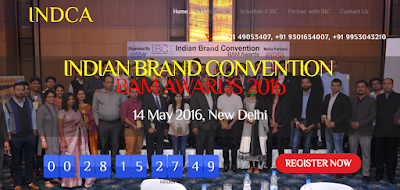 BAM Awards 2016 and Indian Brand Convention in New Delhi on May 14