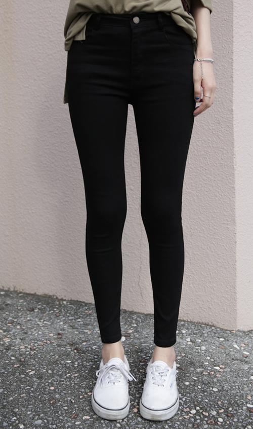 Skinny Mid-Rise Pants