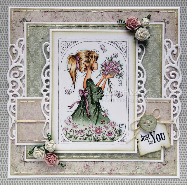 Girly Summer vintage style card (image from LOTV)
