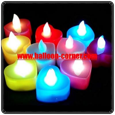 Lilin LED Bentuk Hati / Lilin Elektrik Bentuk Hati