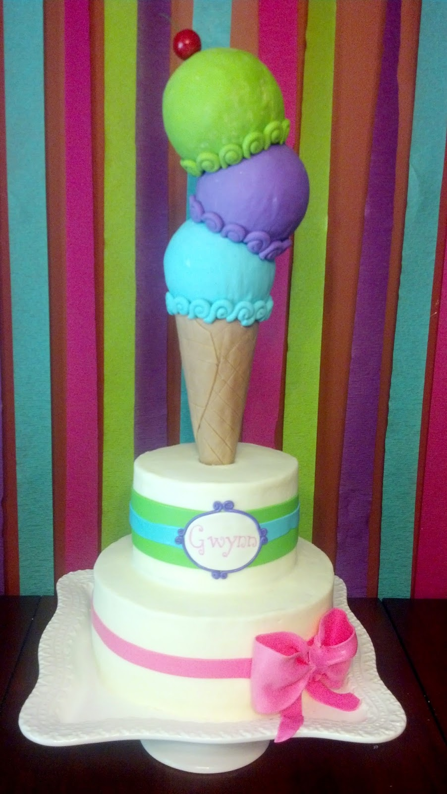 Ice Cream Parlor Birthday Cake And Smash