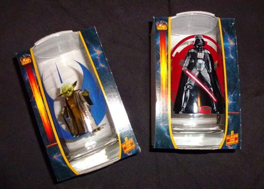 Star Wars Gläser: Yoda und Darth Vader von Billa