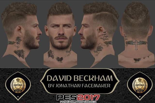David Beckham Face PES 2017