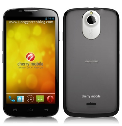 Cherry Mobile SKYFIRE Front and Rear