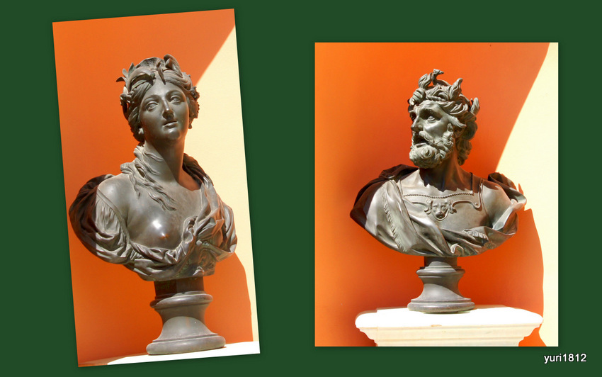Скульптуры Вода и Огонь