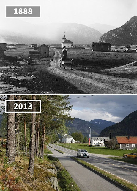 Antes y despúes Rüsstad Noruega