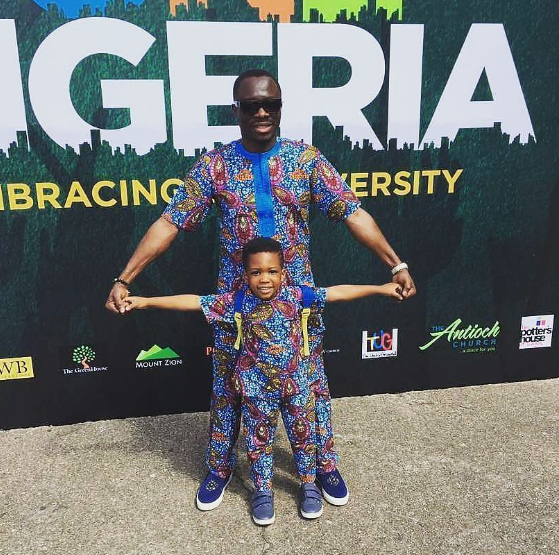 Julius Agwu and family step out in matching ankara outfit