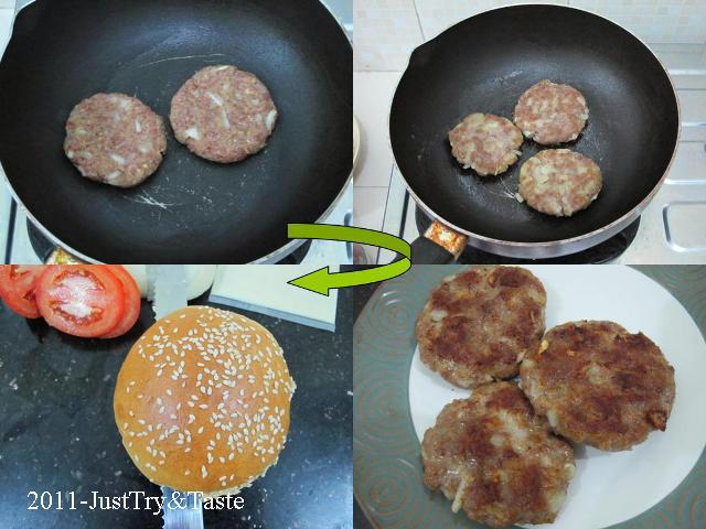 Resep Burger Daging Sapi, Keju dan Sayuran JTT