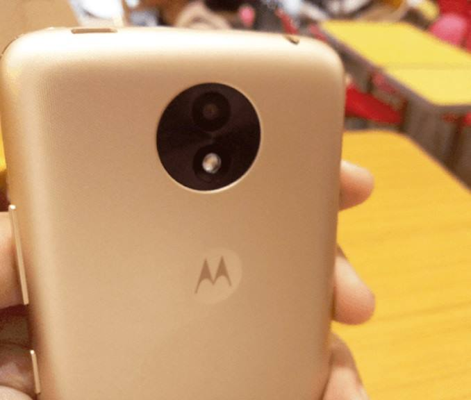 Moto C Plus's main camera