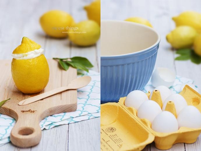 Rezept für Zitronen Mousse in echten Zitronen