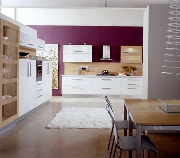 Modern Home Design October 2012: Beauty Houses: Purple Modern Interior Designs Kitchen