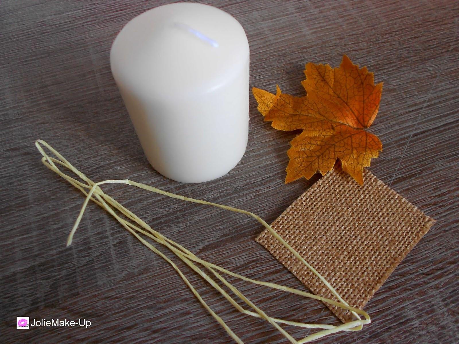 joliemake up diy des bougies aux couleurs de l 39 automne tr s facile faire et en un clair. Black Bedroom Furniture Sets. Home Design Ideas