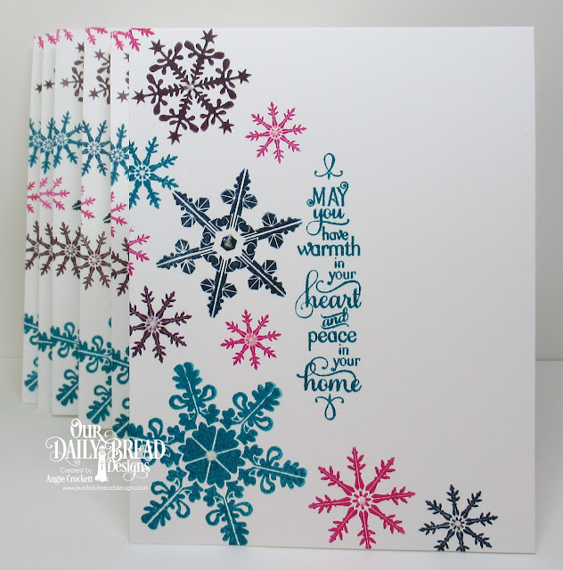 ODBD Sparkling Snowflakes, ODBD Snowy Blessings, Card Designer Angie Crockett
