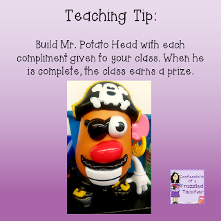 Quick Teaching Tip: Build a Mr. Potato Head with Compliments