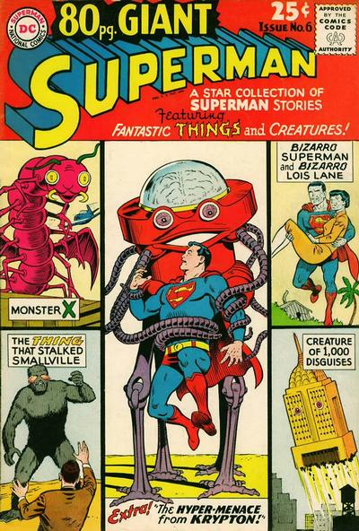 Episode #378 Part III: Superman Comic Book Cover Dated January 1965: 80 Page Giant #6!