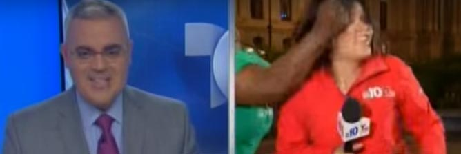 Choi! Female reporter slapped by another woman on live TV