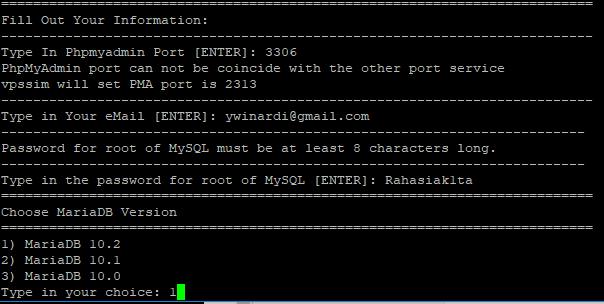 type 1) MariaDB 10.2