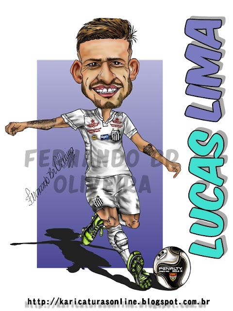 Caricatura Lucas Lima Santos Futebol Clube 2016