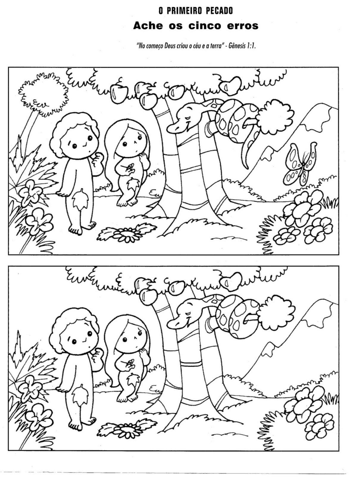 Crescendo Com Jesus Adao E Eva