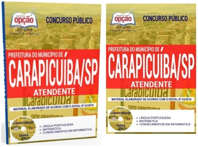 Apostila Prefeitura de Carapicuíba sp Atendente