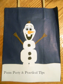 How to make a #fFrozen Olaf gift bag