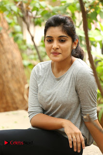 Actress Niveda Thomas Pictures in Black Jeans at Gentleman Movie Interview  0076.JPG