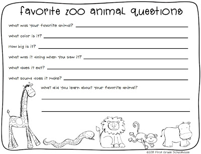 NEW 8 ZOO ANIMAL WORKSHEETS FIRST GRADE | zoo worksheet