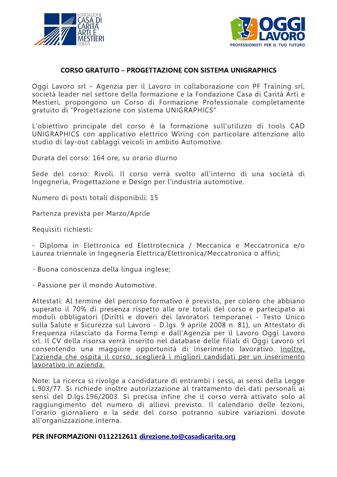 Corsi di formazione gratuiti, finanziati dalla Regione Veneto.
