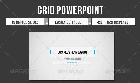 PowerpointTemplates Professional The Grid PowerPoint Template