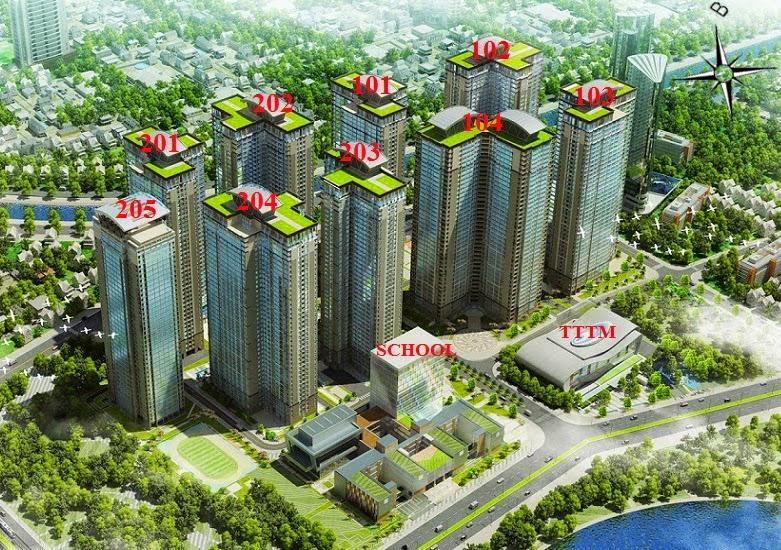 Mặt Bằng Chung Cư Goldmark City Tòa Ruby 104