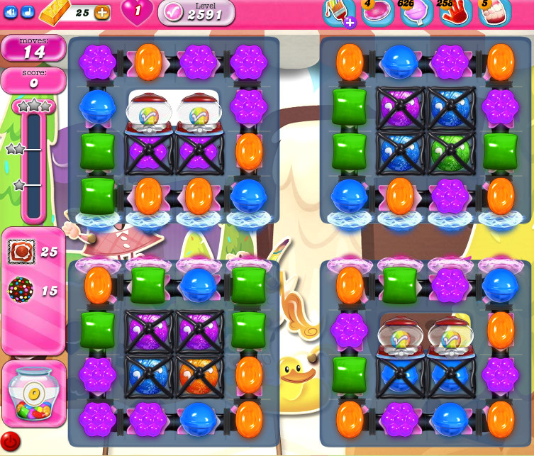 Candy Crush Saga level 2591